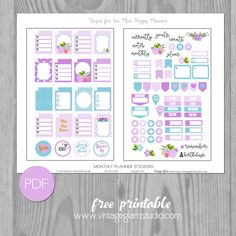 Monthly Planner Stickers for the Mini Happy Planner | Free Printable