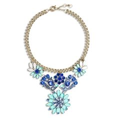 Indigo Sky Crystal Necklace By Ily Couture