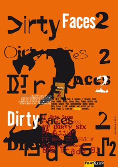 FF Dirty Six fonts from the FontFont Library
