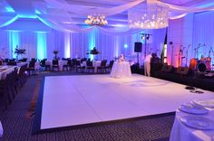White Dance Floor at the Book Cadillac