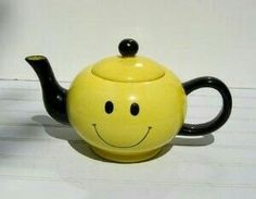 Thank You To My Sweet Sister For This One Happy Face Vintage Teapot Ceramic Smiley Tea Pot