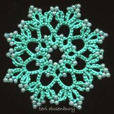 TATtle TALES Tatting Patterns: Tatted Snowflake Patterns: Christmas in July