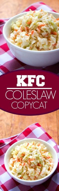 KFC Coleslaw Copycat – make your restaurant favorite right in your kitchen! Perfect for the summer BBQ's and potlucks!
