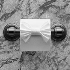 """BOW TIE"" ♦ Instructions in ""Toilet Paper Origami on a Roll: Decorative Folds and Flourishes for Over-the-Top Hospitality"" by Linda Wright   ♦ http://www.amazon.com/dp/0980092337/"