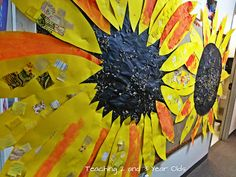 Teaching 2 and 3 Year Olds: Large Sunflower Art