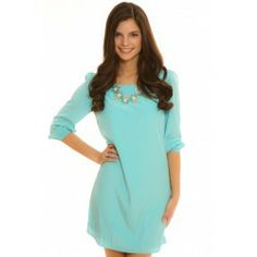 Candied Confection Shift Tunic-Sky - $39.00