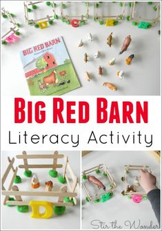 Big Red Barn Literacy Activity- Matching farm animals to their letter sounds! A fun literacy activity for preschoolers!
