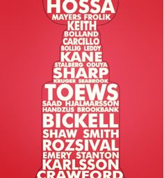 2013 Chicago Blackhawks Stanley Cup Winning Team