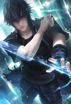 Pixiv llfacebook llOnline StorellTumblrll PatreonllArtstationlInstagram gumroad(tutorial store) yes, one step closer to painting all the FFXV main gang! only prompto left! I...