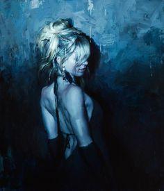Jeremy Mann ~   24 x 21 in.  Oil on Panel  2013