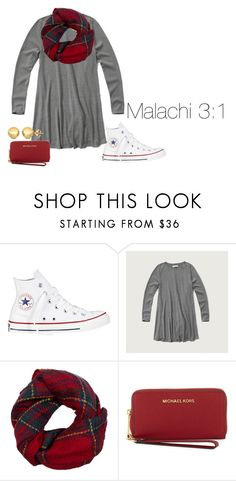 """Christmas Vibess// Read D for Bible Verse!"" by lucycavv ❤ liked on Polyvore featuring Converse, Fevrie, MICHAEL Michael Kors and Sevil Designs"