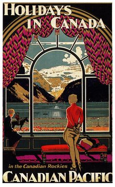 Blog Post by the Vintage Inn: Come Visit Canada! Vintage Travel Posters