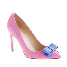 Collection Contessa snakeskin-bow pumps - j.crew collection - Women's shoes - J.Crew....oh my!