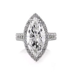 5.87ct Marquise Cut Diamond Engagement Ring