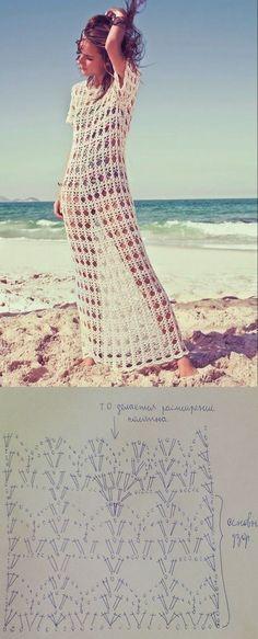 Ivelise Feito à Mão: Vestido Longo De Crochê