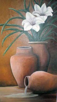 telas a oleo de flores - Pesquisa Google