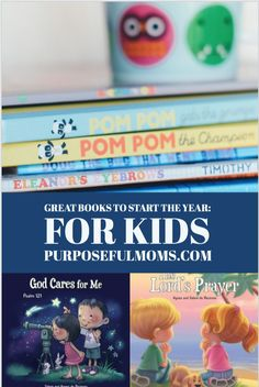 Great Books to Start the Year: For Kids- PurposefulMoms.com   The best start to the New Year that we can give our children is to begin filling their hearts with God's Word. Agnes and Salem Bezenac have a wonderful series of books designed to bring the truth of God's Word to the hearts of our children. They are sure to please parents and children alike.