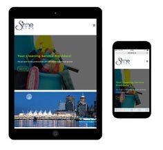 Web design, logo design, branding for Shine Line