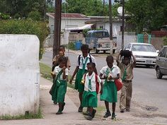 Jamaican Children coming from school. This was me a couple years back!!