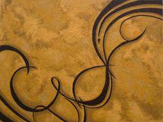 "Artist:  Tiffany Joy Villahermosa Cherish, 2010 Acrylic on Canvas 40"" x 30"" $875 SOLD Tiffany, Poetry Art, Wood Paneling, Creative Inspiration, Joy, Paintings, Lettering, Canvas, Artist"