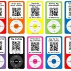 Record stories, create a QR code, print, laminate, and put on a ring! Students can read along with stories independently using an iPod or iPad.