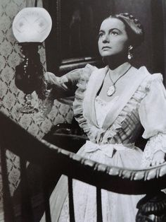 "Catherine Sloper (Olivia de Havilland): ""He's grown greedier over the years. Before he only wanted my money; now he wants my love as well. Well, he came to the wrong house - and he came twice. I shall see that he does not come a third time."" -- from The Heiress (1949) directed by William Wyler"