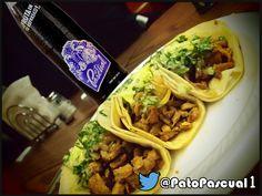 Tacos de Tripa con Pato Pascual