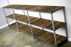 Reclaimed wood bookcase (different choices avail.) Custom Configurations Available Rustic/modern/industrial look (book case/shelving unit via Etsy