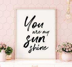 You Are My Sunshine Printable Art, Baby Nursery Decor, Nursery Quote Printable, Nursery Art Print, K Printable Bible Verses, Printable Quotes, Printable Art, Printables, Nursery Quotes, Wall Art Quotes, Printing Websites, Online Printing, Baby Nursery Decor
