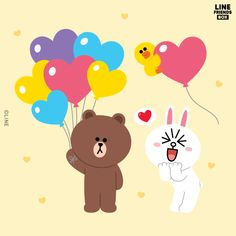 Friends Valentines Day, Valentine Box, Friends Image, Line Friends, Line Cony, Love Is When, Cute Couple Art, Cute Love Gif, Cony Brown