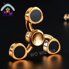 c636f72deb Tri-Spinner Fidget Toys EDC Hand Spinner Metal Fidget Spinner For Autism  and ADHD Adults