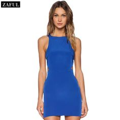 Aliexpress.com : Buy ZAFUL Top Quality 2015 Summer Women's Dress Brief Fashion O neck Sleeveless Solid Color Backless Bodycon Dress Hot Sale from Reliable dress balloon suppliers on ZAFUL   Alibaba Group