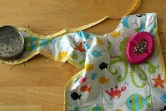 Vinyl tablecloth bib tutorial - just found the cutest tablecloths at TJMaxx for only 4 bucks