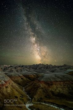 Starry Night  Amazing night sky at Badlands National Park. 14 images stacked to get rid of noise.  Camera: Canon EOS 6D  Join the Milky Way Group http://ift.tt/2sf2DTT and share your Milky Way creations or findings with the world! Image credit: http://ift.tt/2vqwe07 Don't forget to like the page or subscribe for more Milky Imagery!  #MilkyWay #Galaxy #Stars #Nightscape #Astrophotography #Astronomy