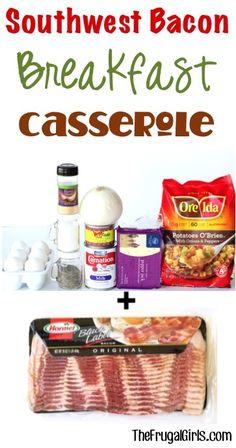 Southwest Bacon Breakfast Casserole Recipe - from TheFrugalGirls.com