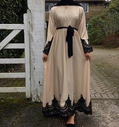 Closed Cream Amal Abaya – Made To Order – Hijab Fashion Muslim Women Fashion, Modern Hijab Fashion, Hijab Fashion Inspiration, Islamic Fashion, Abaya Fashion, Modest Fashion, Fashion Outfits, Hijab Dress Party, Hijab Style Dress