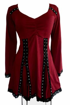 Dare To Wear Gothic Victorian Women's Plus Size Electra Corset Top Garnet 2X
