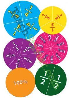 These fractions and their correlating percentages are presented on a wheel that can be cut and magnetically stuck to your white board for a constant visual reminder. Primary School Teacher, Primary Classroom, Teaching Math, Teaching Resources, Bubble Play, Early Years Maths, Math Magic, Classroom Games, Classroom Ideas