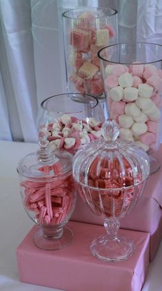 Musk sticks in various pastel colors and marshmellow - can also get in light yellow and orange colours #Pin By:Pinterest++ for iPad#