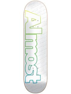 Almost Faded Outline White Skateboard Deck Almost Skateboards, Complete Skateboards, Skateboard Decks, Outline, Skateboards, Skate Board