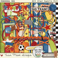 All Star Sports Kit by Twin Mom Scraps   at @GingerScraps  http://store.gingerscraps.net/All-Star-Sports-Kit.html