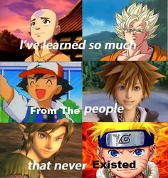 You taught us well, characters from my childhood