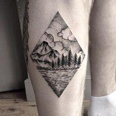 This gorgeous depiction of Scotland's landscape.   24 Beautiful Scottish Tattoos You Definitely Won't Regret