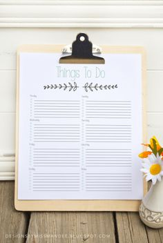 """Printable """"To Do"""" List - Designs By Miss Mandee"""