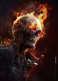Ghost Rider, Rodrigo Soria on ArtStation at https://www.artstation.com/artwork/ghost-rider-3214043b-762c-4050-a6ed-e05122876a2f