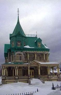 Victorian in the snow