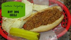 Hot Dog Chili {Southern Tailgate} - Our Southern Home
