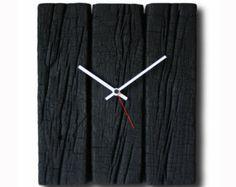 Quemado reloj madera reloj de pared decoración casera por Inthetim