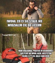 Pin by Wiktoria Kotlowska on Funny Weekend Humor, Zero Two, Best Memes, Jokes, Lol, Funny Humor, Fotografia, Funny Humour, Husky Jokes