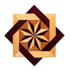 PID Floors, Star Medallion Unfinished Decorative Wood Floor Inlay MS002 - 5 in. x 3 in. Take Home Sample, MS002S at The Home Depot - Mobile
